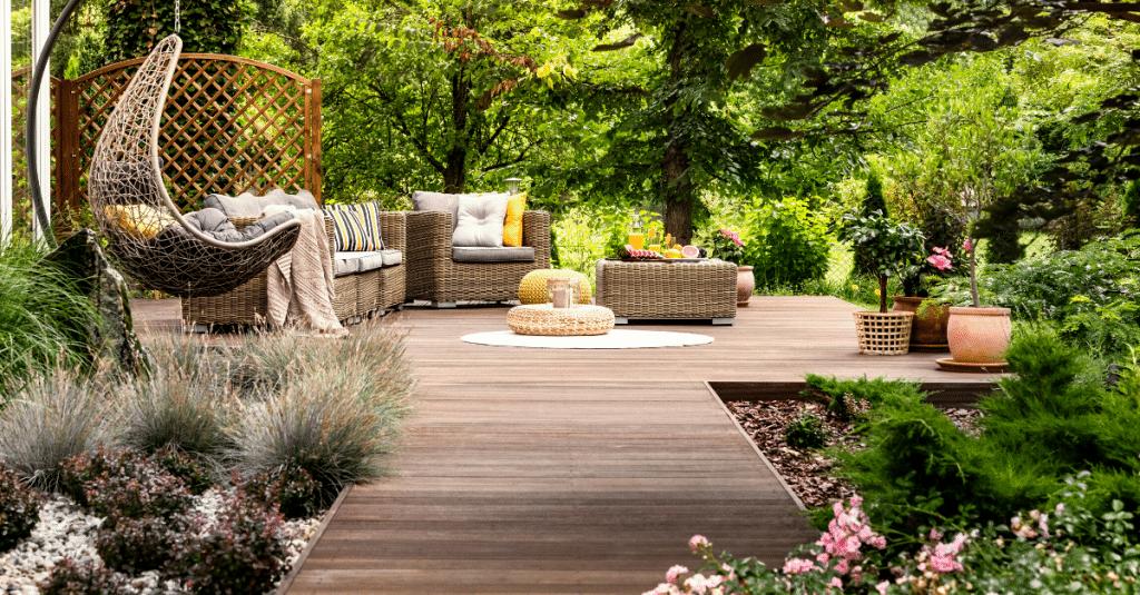 Terrassenholz Garten