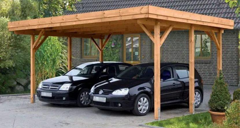 2 Autos unter Carport
