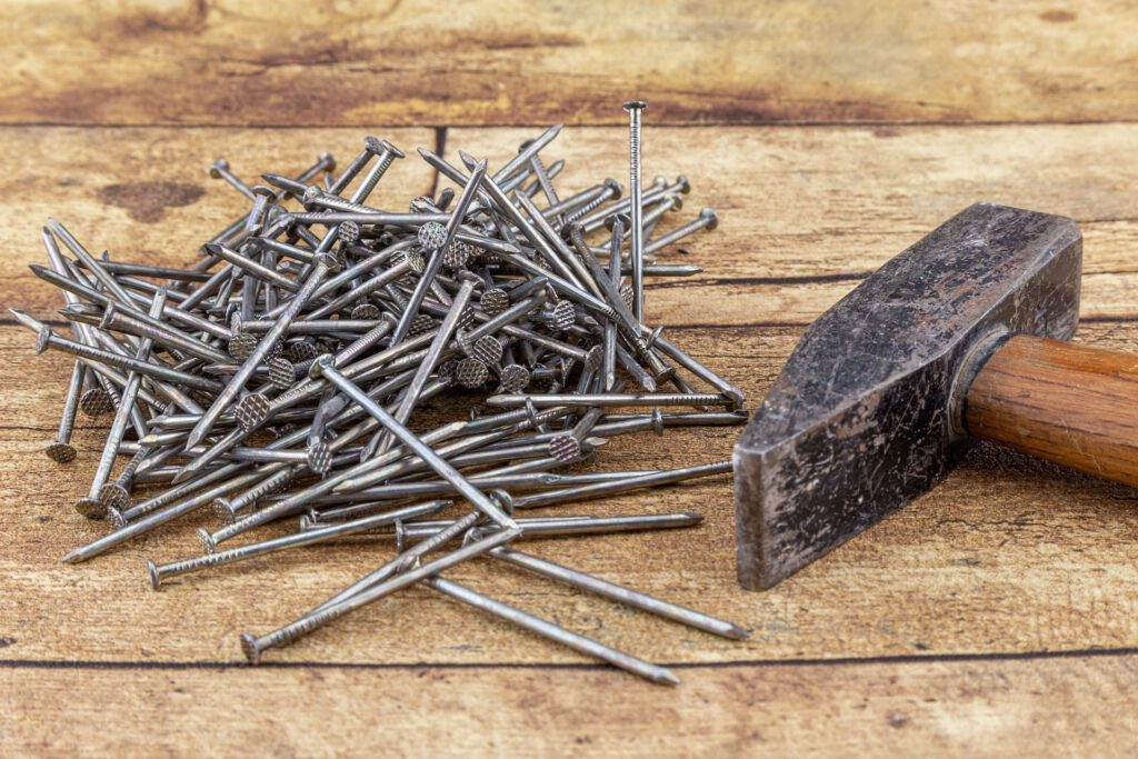 Holzfassade Nägel