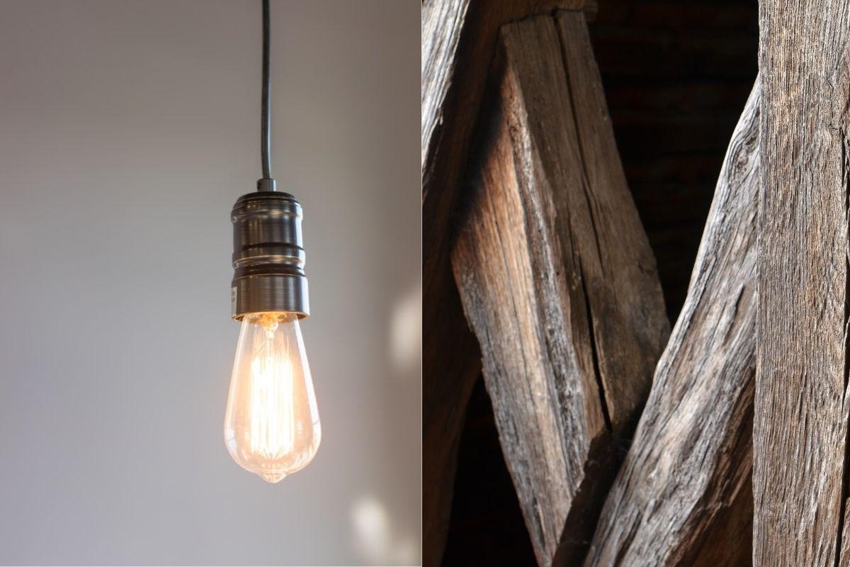 Vintage Lampe Esstisch