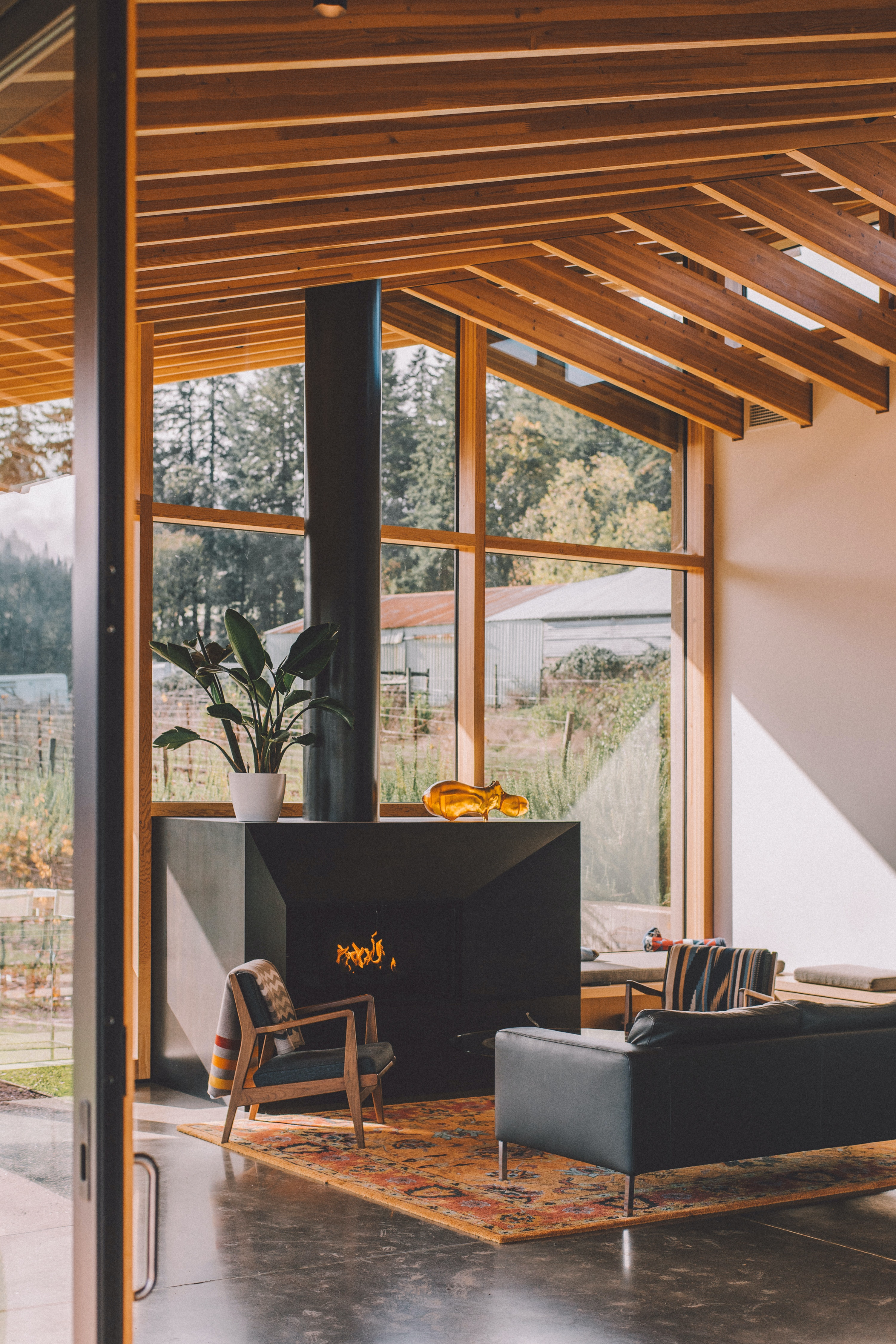 Holzbalken Wohnzimmer