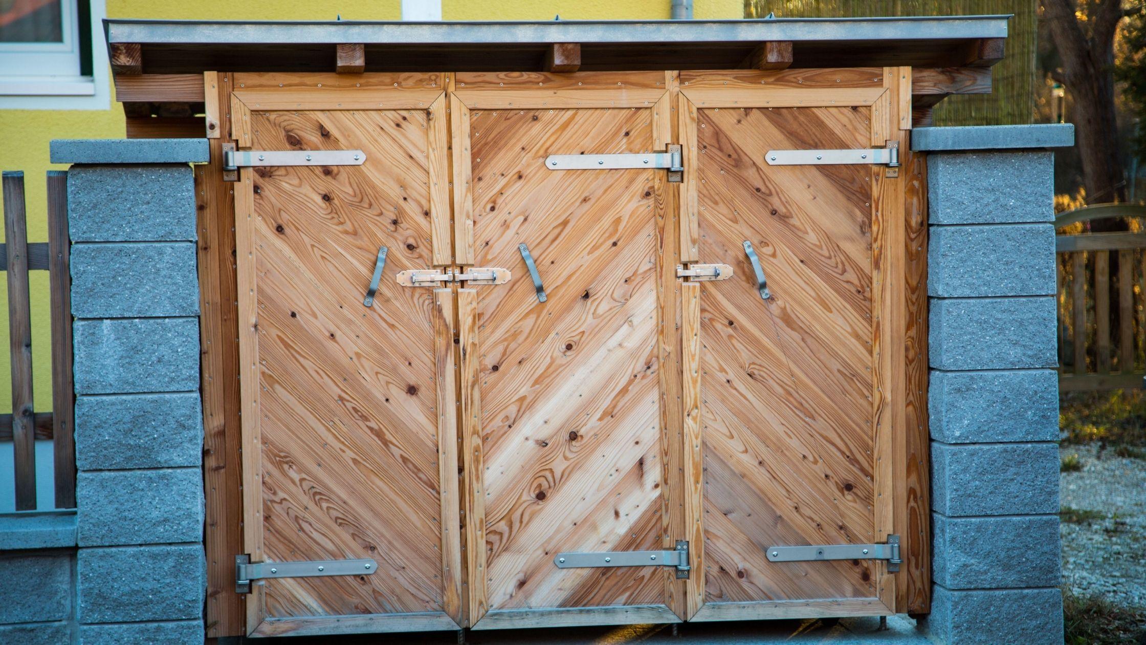 Mülltonnenbox Holz